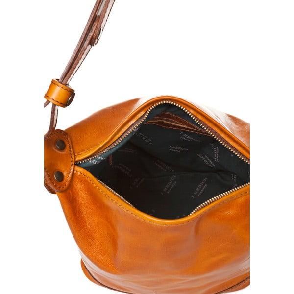Medově hnědá dámská kabelka ztelecí kůže Medici of Florence Valeria