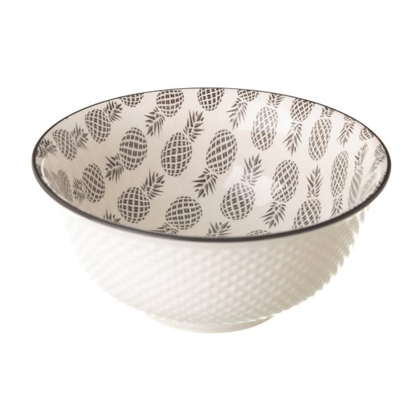 Šedobílá porcelánová miska Unimasa Pinna, průměr16,3cm