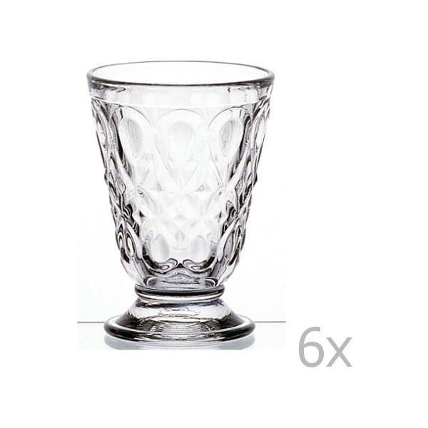 Set 6 pahare transparente  cu picior Lyonnais, 200 ml