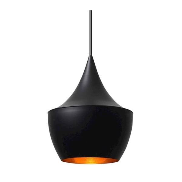 Černé závěsné svítidlo s detailem ve zlaté barvě Black Dream