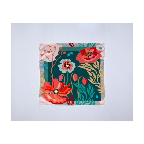 Módna šatka Madre Selva Logoom Garden, 55×55 cm