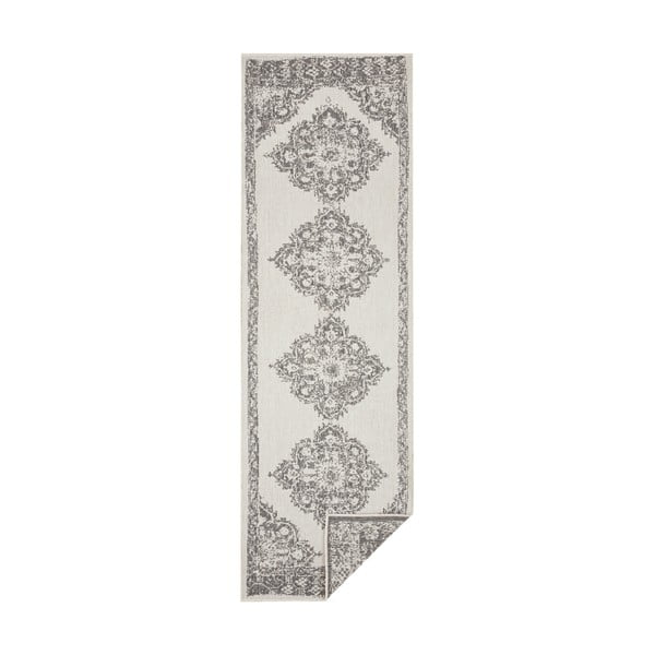 Šedo-krémový venkovní koberec Bougari Cofete, 80 x 250 cm