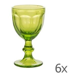 Sada 6 sklenic Calici Vino Green