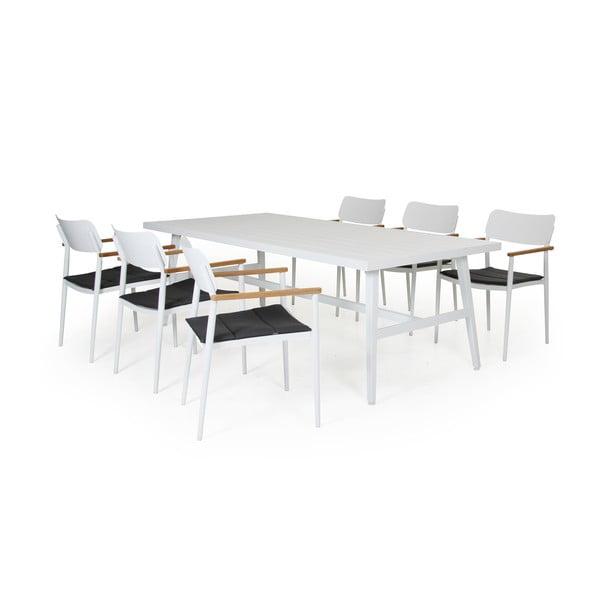 Sada 6 bílých zahradních židlí Brafab Domingo, výška 83cm
