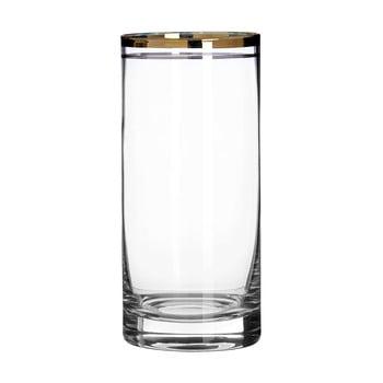 Set 4 pahare din sticlă suflată manual Premier Housewares Charleston 475 dl