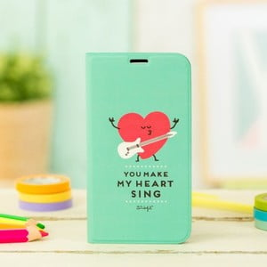Mátově zelený obal na Samsung Galaxy S5 Mr. Wonderful Heart