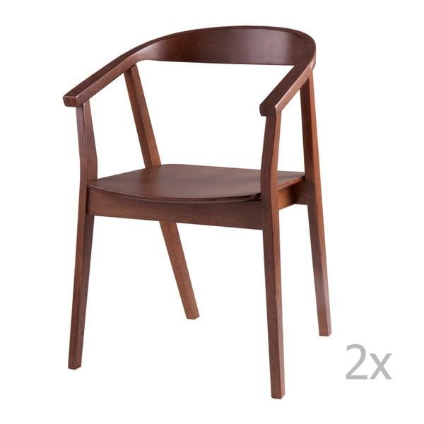 Set 2 scaune cu elemente de decor din lemn de nuc sømcasa Donna