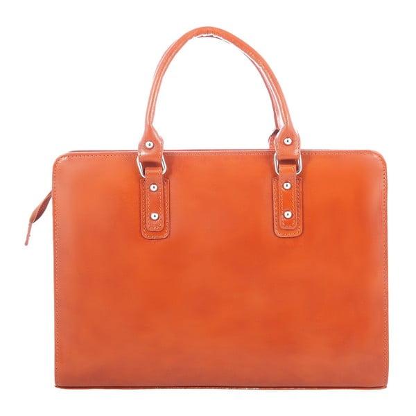 Karamelová kožená taška Chicca Borse Paola