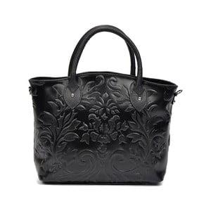 Černá kožená kabelka Renata Corsi Anna