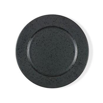 Farfurie din gresie ceramică Bitz Basics Black, ⌀ 27 cm, negru