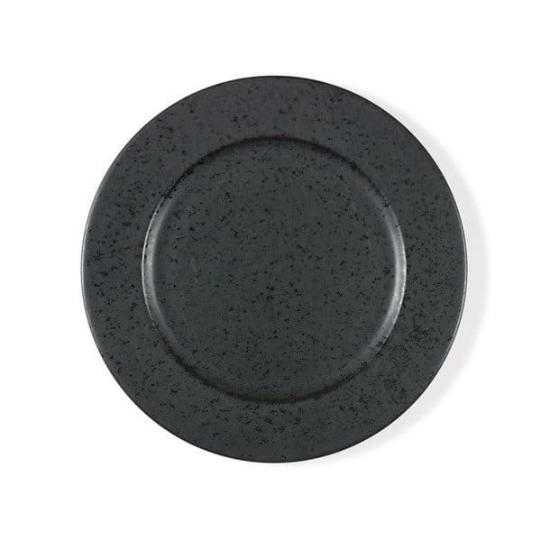 Basics Black fekete agyagkerámia lapostányér, ⌀ 27 cm - Bitz