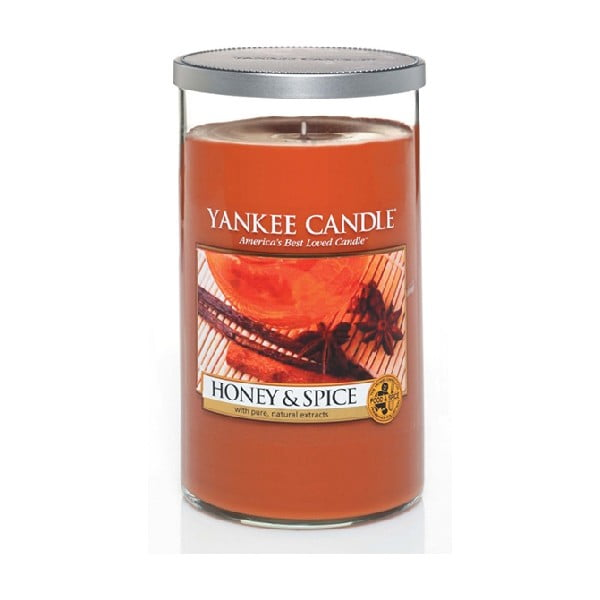 Vonná svíčka Yankee Candle, Med a koření, střední