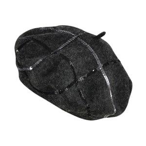 Tmavě šedý baret Punta