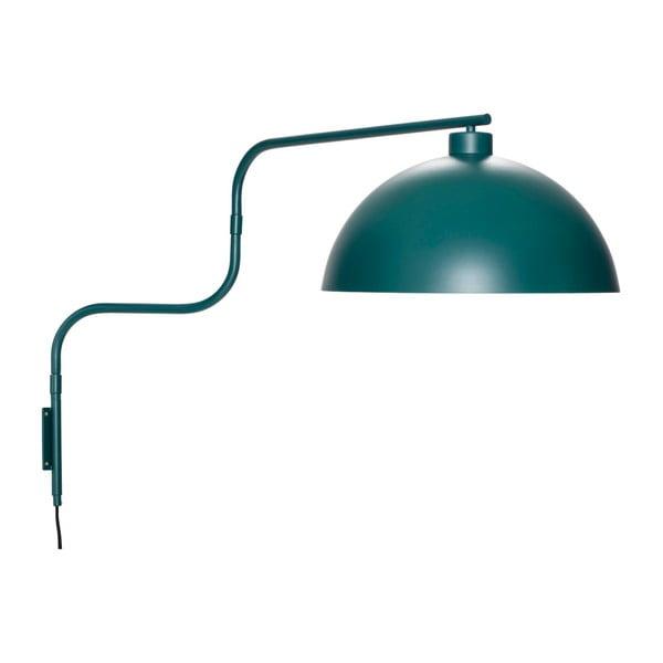 Tmavě zelené nástěnné svítidlo Hübsch Hurgo