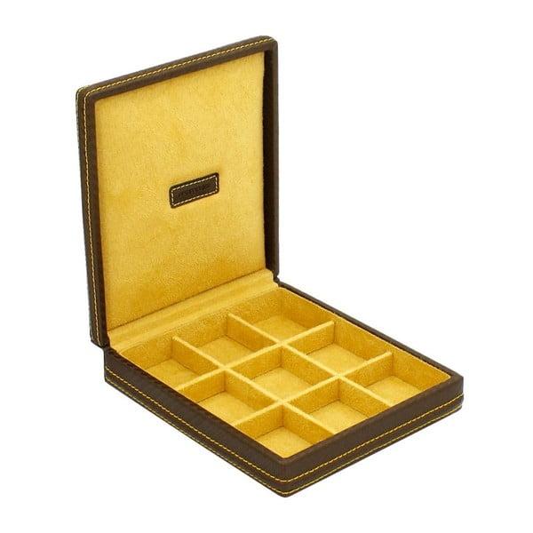 Box na manžetové knoflíčky Carbon Gold