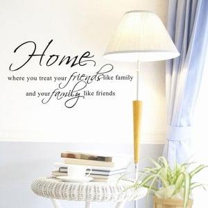 Dekorativní samolepka Family & Friends, 45x80 cm