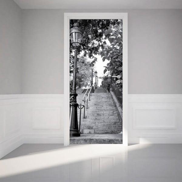 Naklejka samoprzylepna na drzwi Ambiance Parisian Stairs