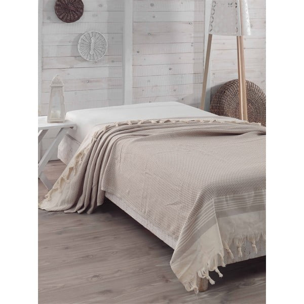 Přehoz přes postel Light Brown Sugar, 200 x 240 cm
