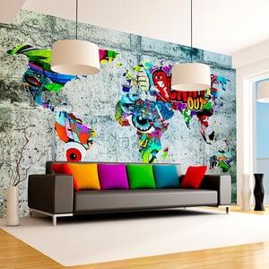 Velkoformátová tapeta Artgeist Graffiti Map, 250x175cm
