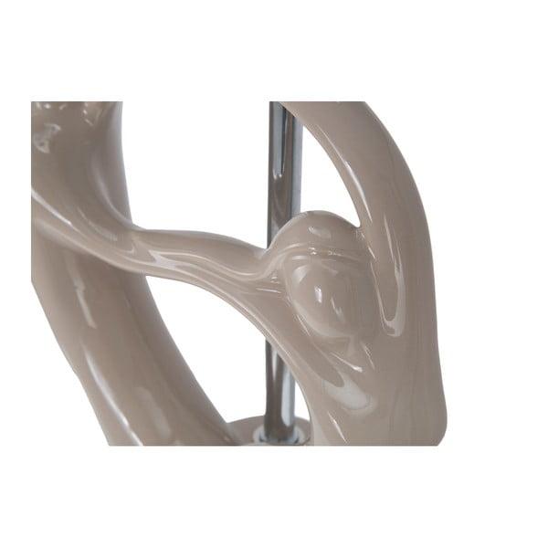Béžová stolní keramická lampa Mauro Ferretti Moselle, 50cm
