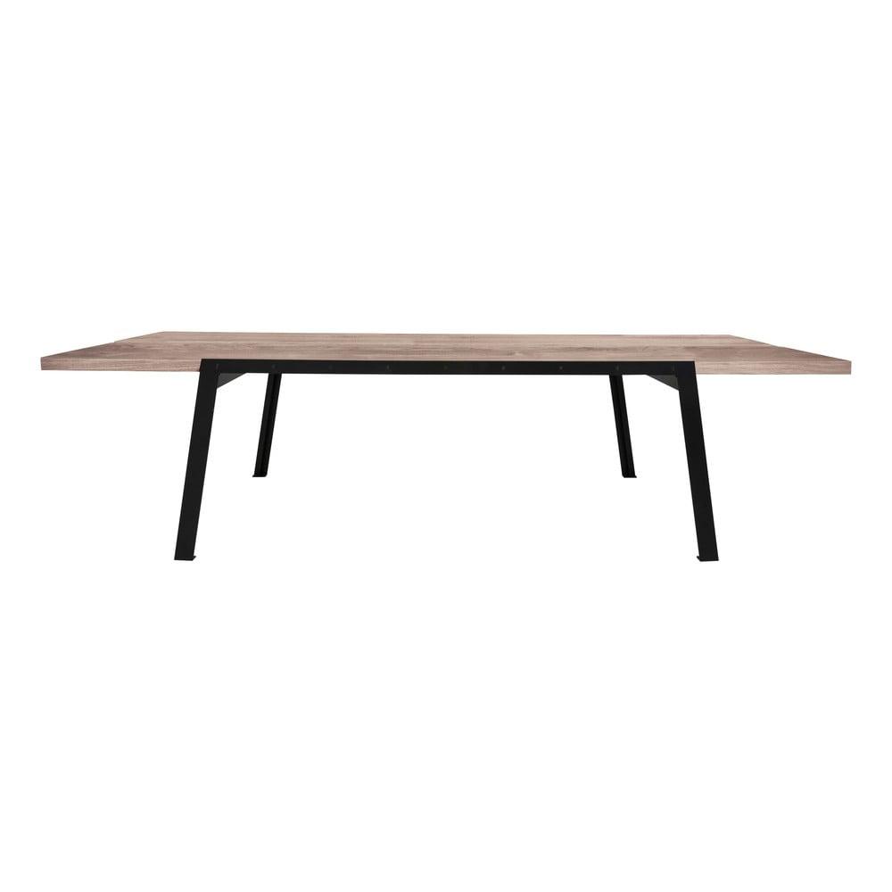 Jídelní stůl se deskou z dubového dřeva Canett Aspen, délka 290 cm