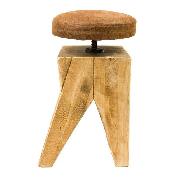 Otočná dřevěná stolička Gie El Home Swivel