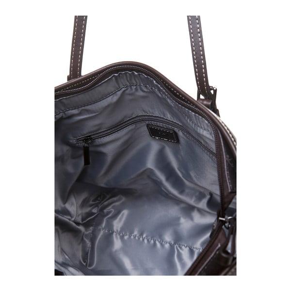 Kožená kabelka přes rameno Canguru Tag, hnědá