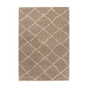 Hnědý koberec Mint Rugs Allure Ronno Brown Creme, 80x150cm