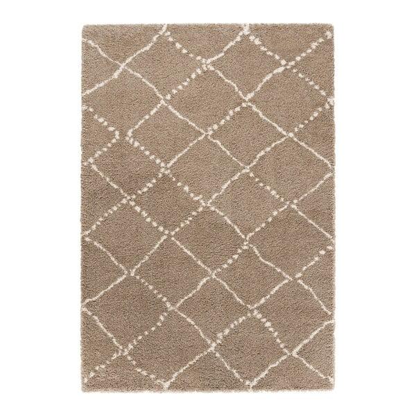 Hnědý koberec Mint Rugs Allure Ronno Brown Creme, 120x170cm