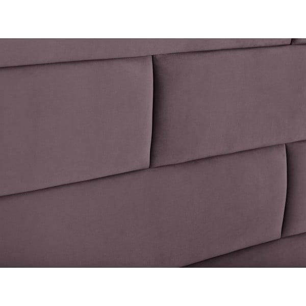 Fialové čelo postele Cosmopolitan Design New York, šířka 200cm