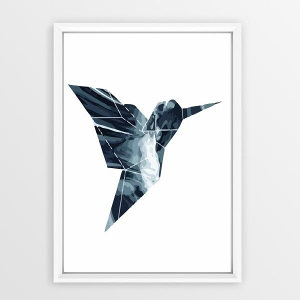 Plakát v rámu Piacenza Art Origami Bird, 30x20cm