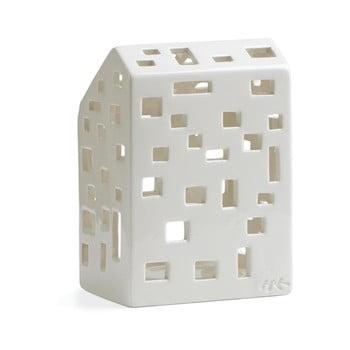 Sfeșnic din ceramică Kähler Design Urbania Lighthouse Funkis, alb imagine