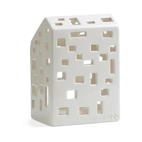 Sfeșnic din ceramică Kähler Design Urbania Lighthouse Funkis, alb