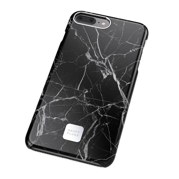 Husă protecție telefon pentru iPhone 7 și 8 Plus Happy Plugs Slim, negru - gri