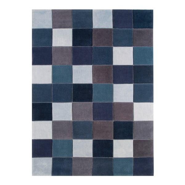 Koberec Asiatic Carpets Eden Pixel Blue, 60x120 cm