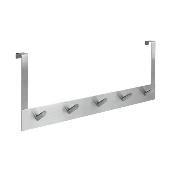 Ellegance ajtóra akasztható fogas 5 akasztóval, hossz 39 cm - Metaltex