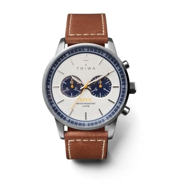 Unisex hodinky s koženým řemínkem Triwa Ocean Nevil