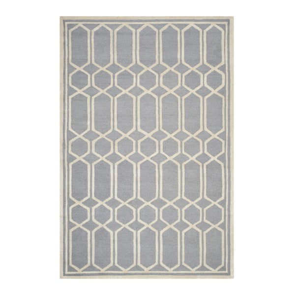 Šedý vlněný koberec Safavieh Olivia, 274 x 182 cm