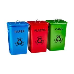 Sada 3 košů na recyklování Premier Housewares Recycle Bins
