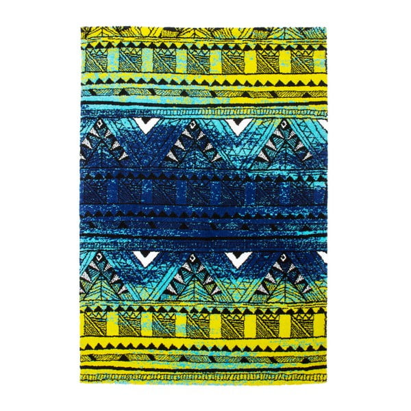 Koberec Aztec, green/blue, 120x170 cm