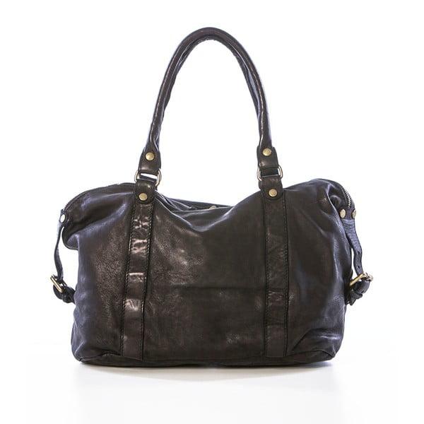 Černá kožená kabelka Federica Bassi Gio
