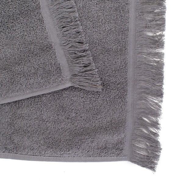 Sada 2 šedých bavlněných osušek Casa Di Bassi Soft, 100x160cm