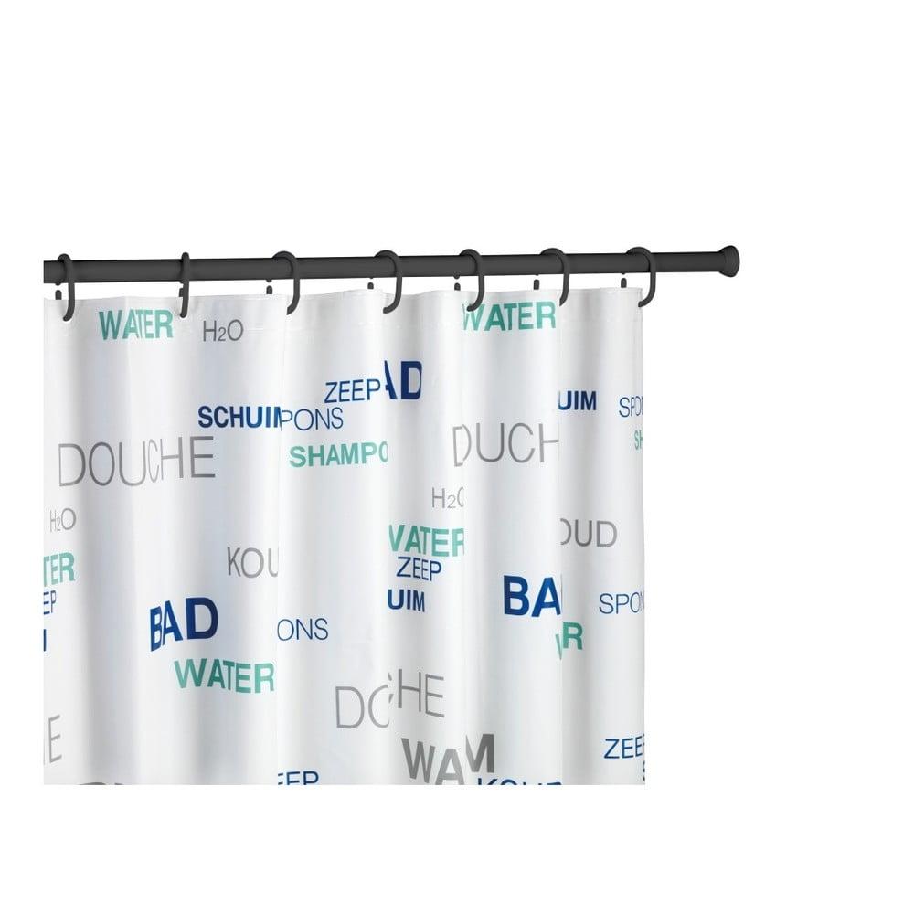 Černá teleskopická tyč na sprchový závěs Wenko Shower Curtain Rod Wenko