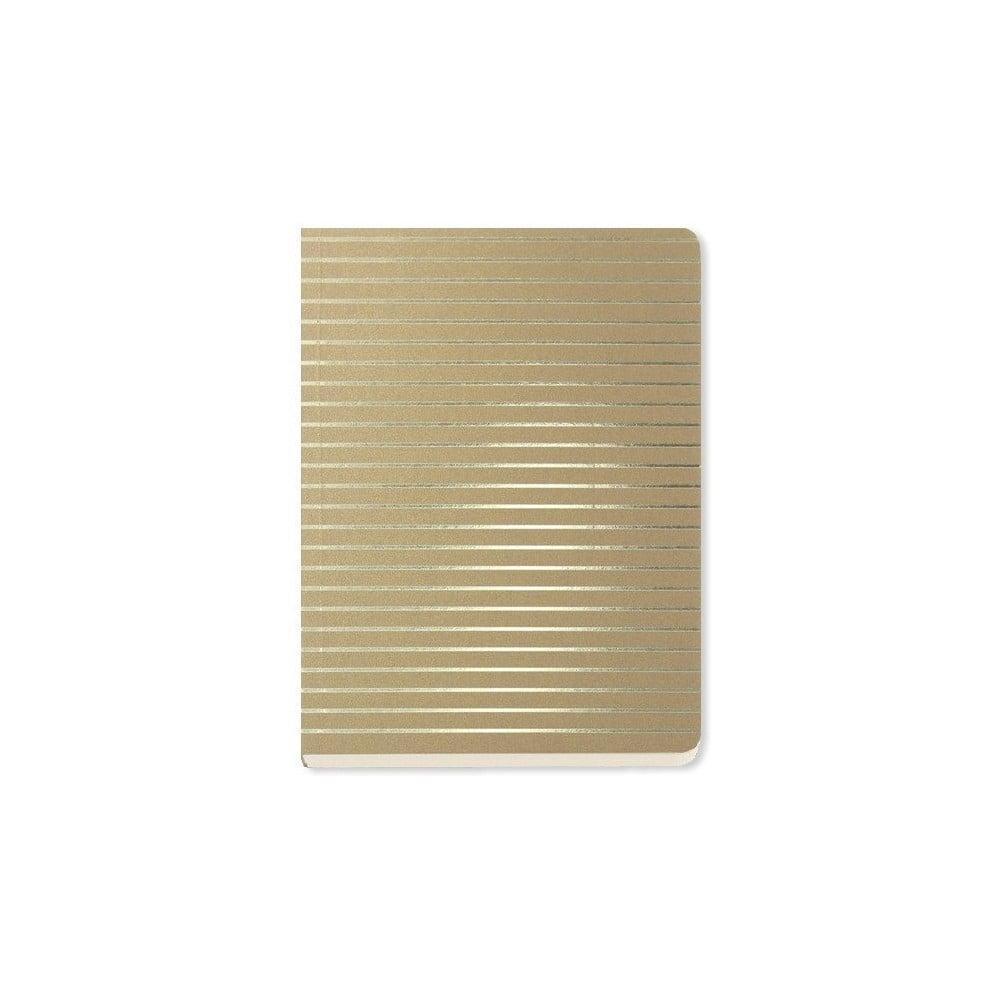 Zápisník A6 Go Stationery Fine Stripe Gold