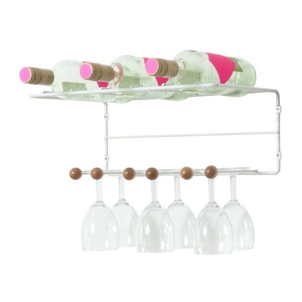 Stojan na víno a skleničky Saturnus Wooden