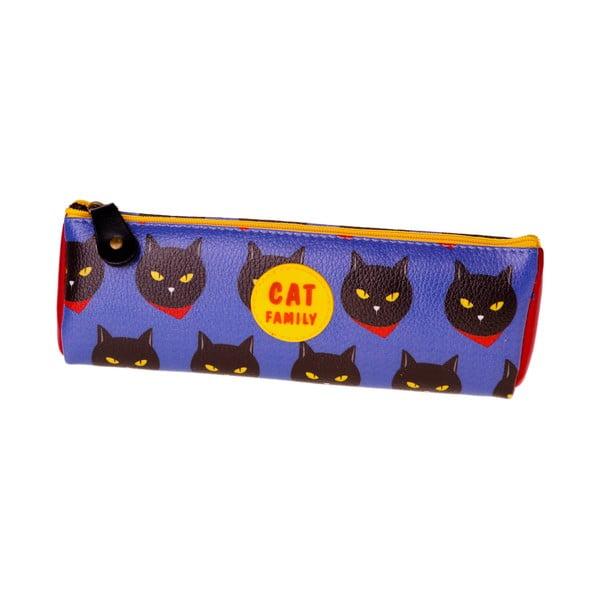 Školní penál Cat, modrý