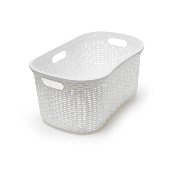Coș de rufe Addis Rattan Laundry Basket Calico, alb