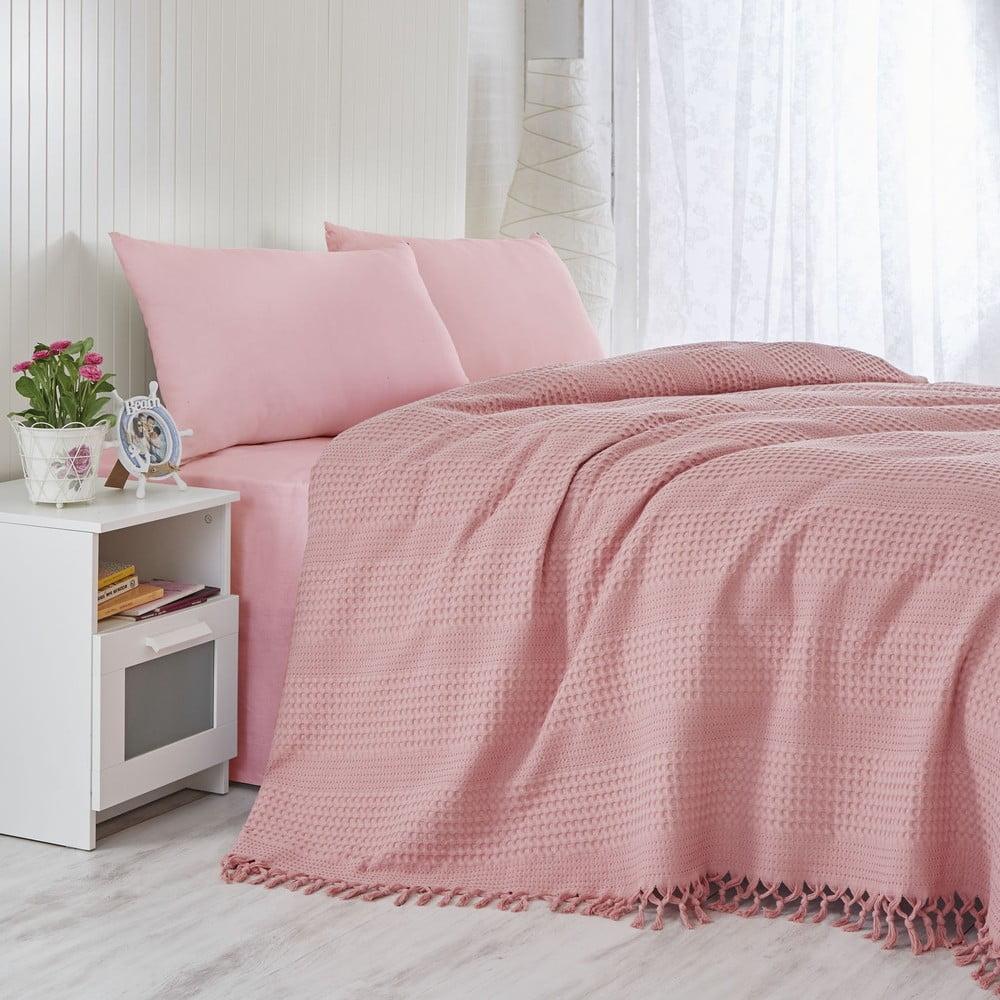 Lehký přehoz přes postel Coral, 220 x 240 cm