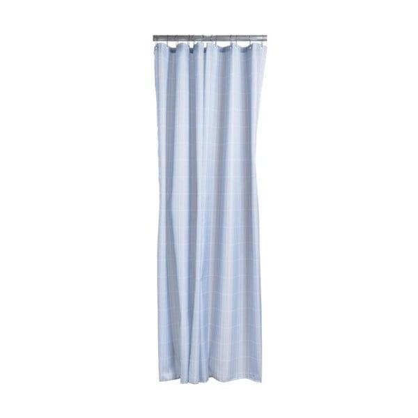 Tiles világoskék zuhanyfüggöny, 180x200 cm - Zone