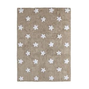 Béžový bavlněný ručně vyráběný koberec Lorena Canals Stars, 120x160cm